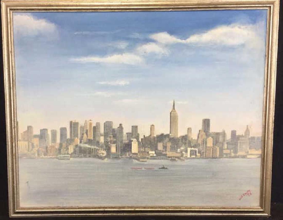Smith, New York City Skyline Oil on Canvas, 1973 - 3