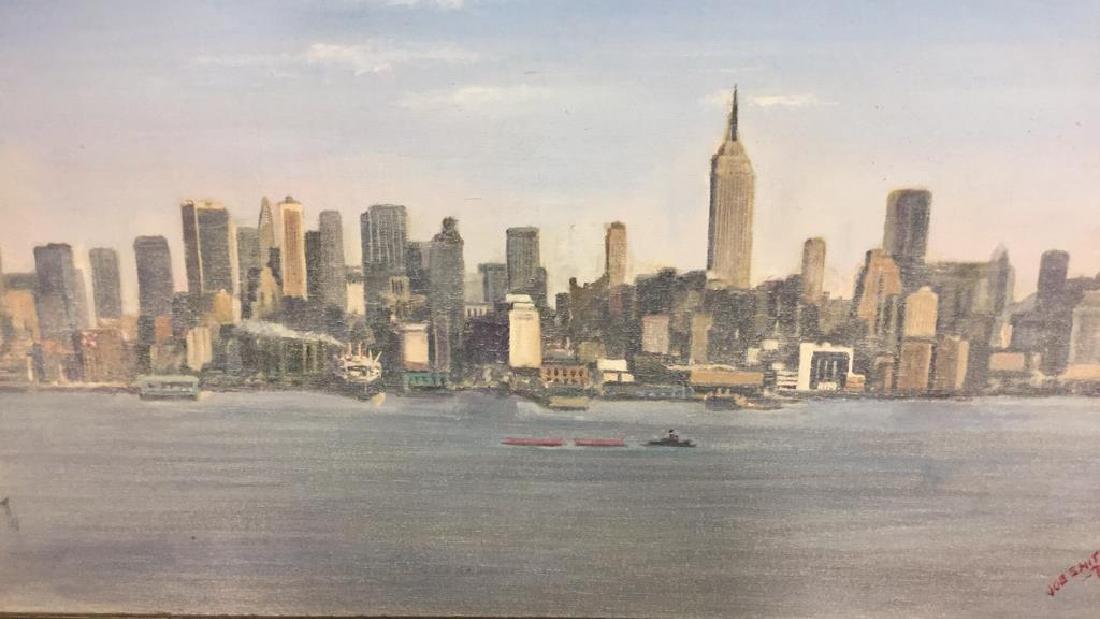 Smith, New York City Skyline Oil on Canvas, 1973 - 4