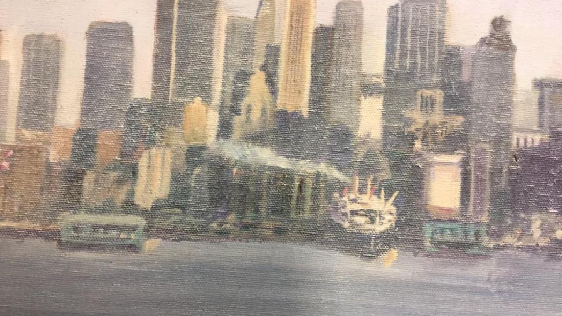 Smith, New York City Skyline Oil on Canvas, 1973 - 5