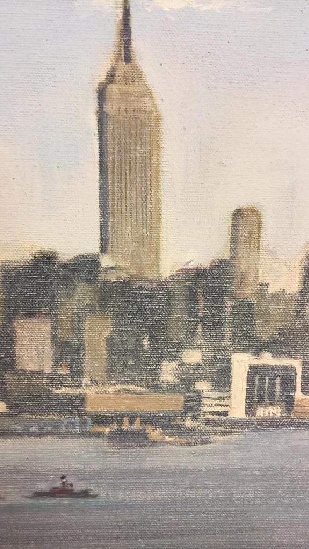 Smith, New York City Skyline Oil on Canvas, 1973 - 6