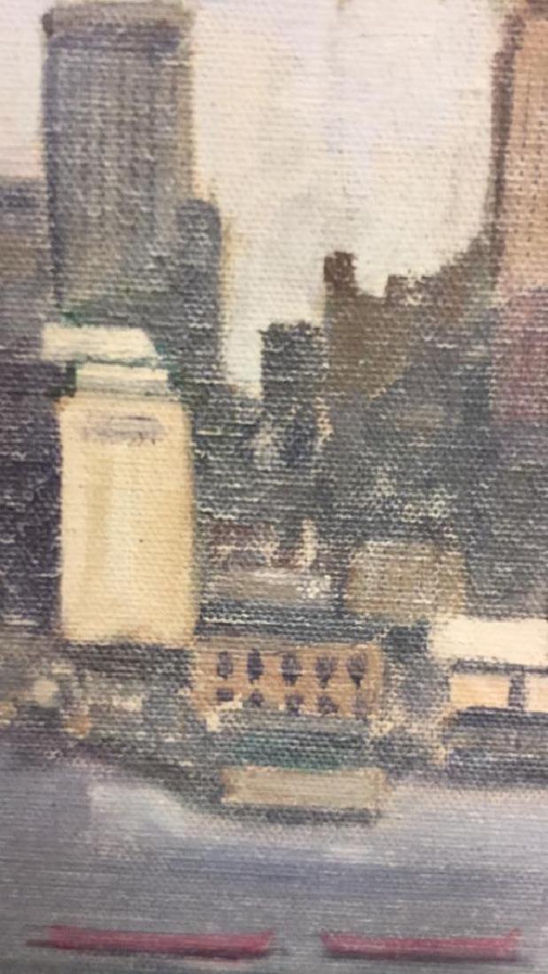 Smith, New York City Skyline Oil on Canvas, 1973 - 8