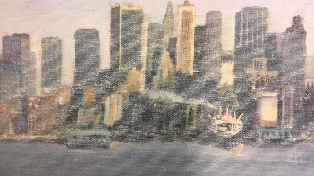 Smith, New York City Skyline Oil on Canvas, 1973 - 9