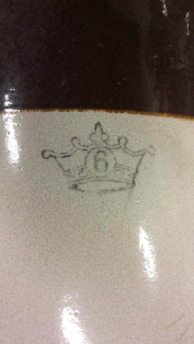 Pair Vintage 2 Toned Ceramic Pickle Barrels - 8