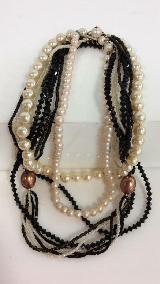 Lot 4 Assorted Women's Vintage Beaded Necklaces - 2