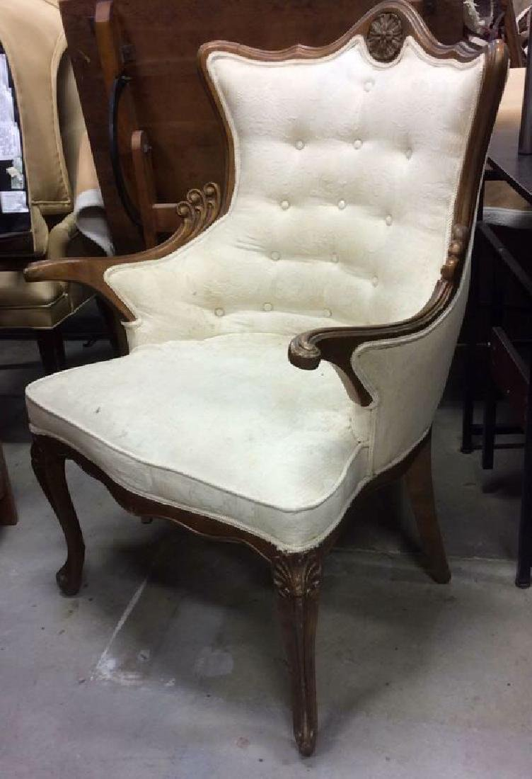 Vintage Victorian Style Upholstered  Armchair - 3