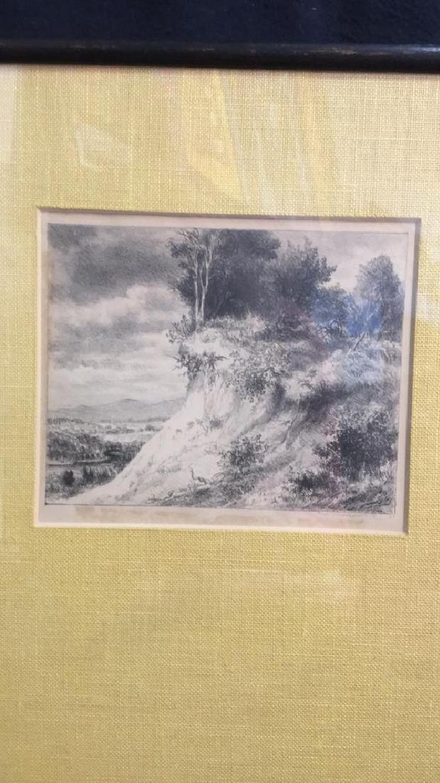 IRA MOSKOWITZ Framed Landscape Etching - 10