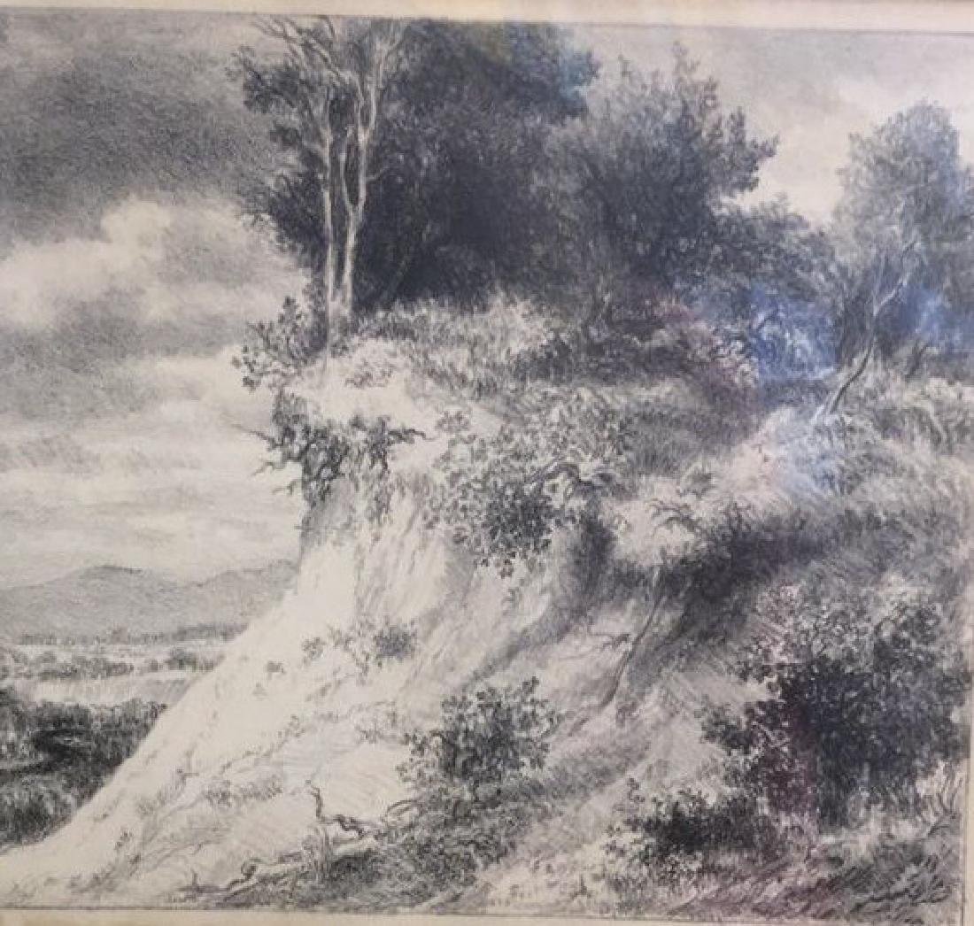 IRA MOSKOWITZ Framed Landscape Etching