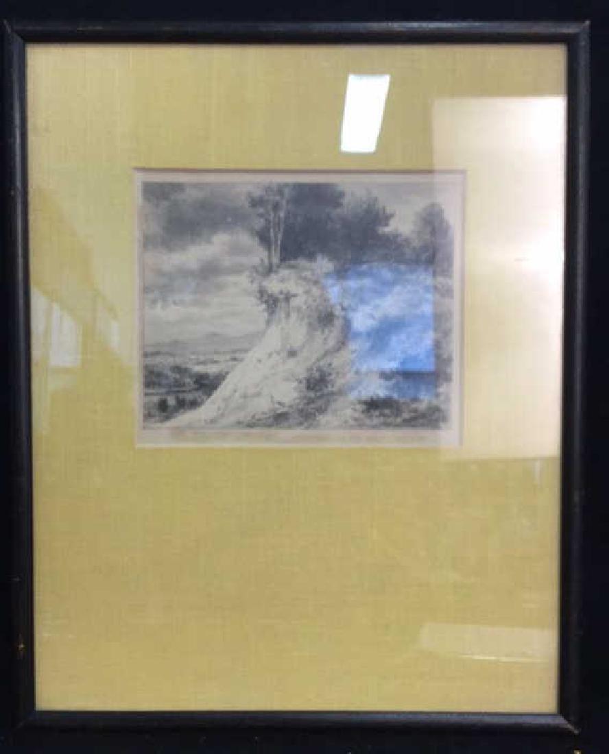 IRA MOSKOWITZ Framed Landscape Etching - 2