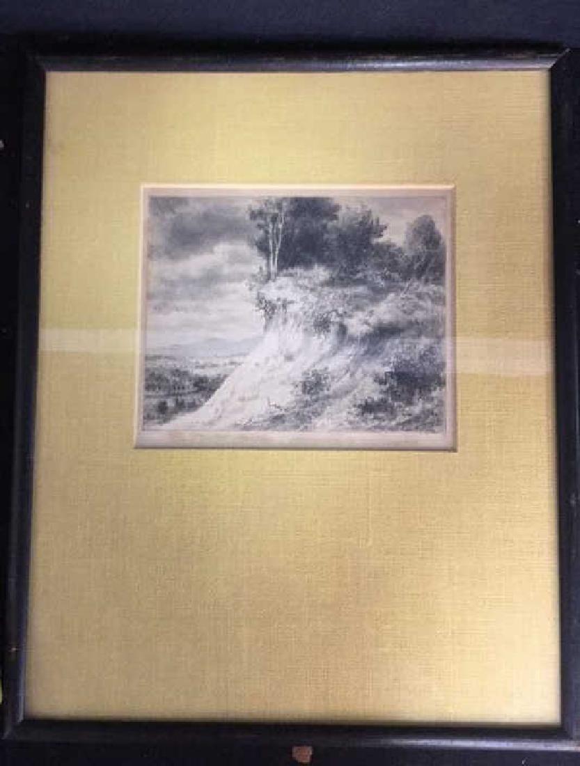 IRA MOSKOWITZ Framed Landscape Etching - 3