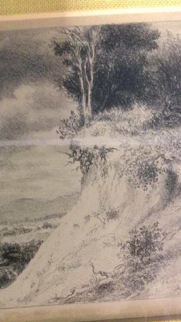 IRA MOSKOWITZ Framed Landscape Etching - 5