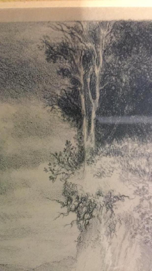 IRA MOSKOWITZ Framed Landscape Etching - 6