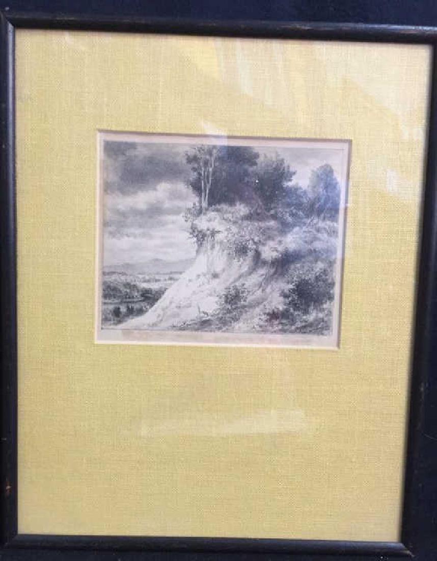 IRA MOSKOWITZ Framed Landscape Etching - 9