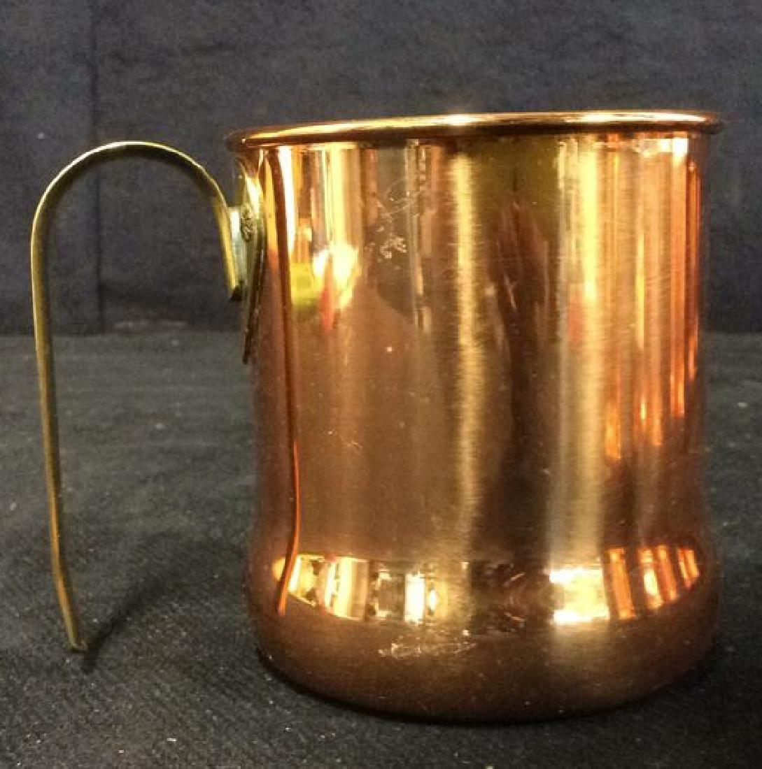 Lot 6 Copper Toned Cups W Handles - 8