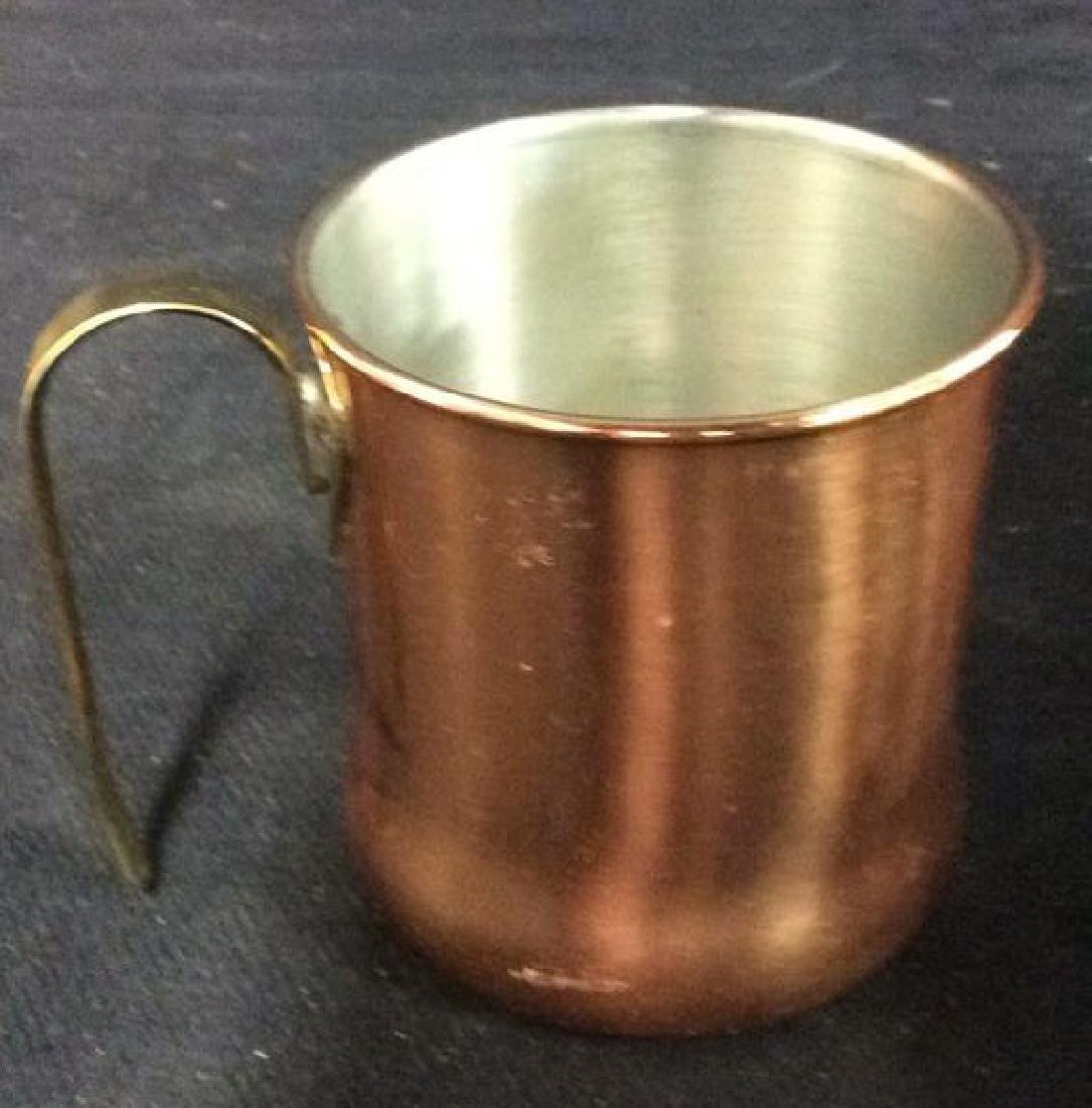 Lot 6 Copper Toned Cups W Handles - 9