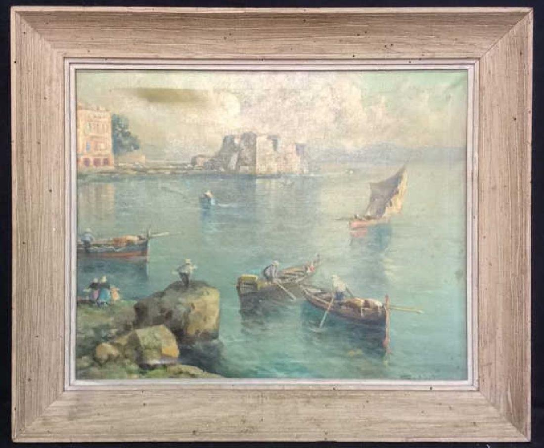 Signed Framed European Painting On Canvas - 2