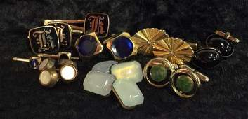 Mixed Lot Assorted Cufflinks and Men's Accessories
