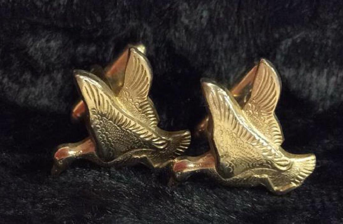 Group Lot Gold Toned Cufflinks & Tie Clips - 5