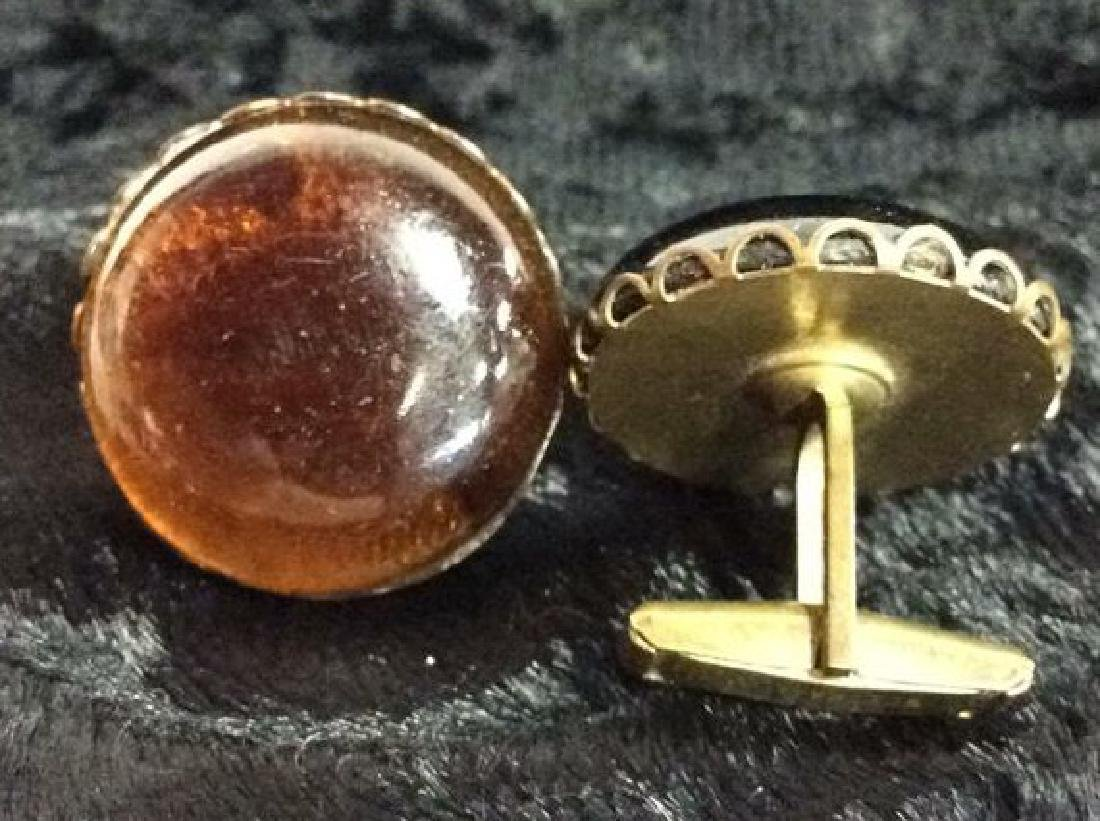 Group Lot Gold Toned Cufflinks & Tie Clips - 7