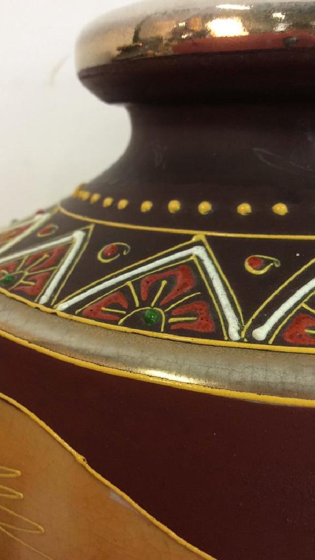 Set 3 Oriental Porcelain Ceramic Vases - 4