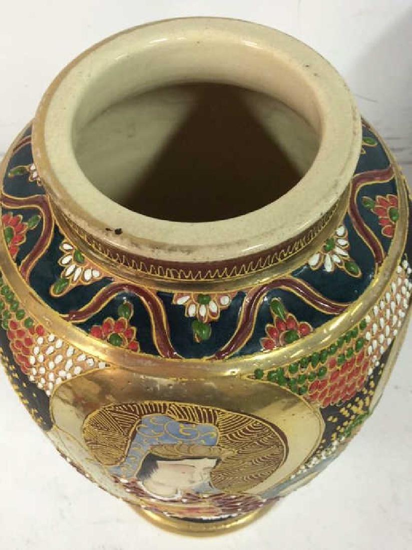 Set 3 Oriental Porcelain Ceramic Vases - 8