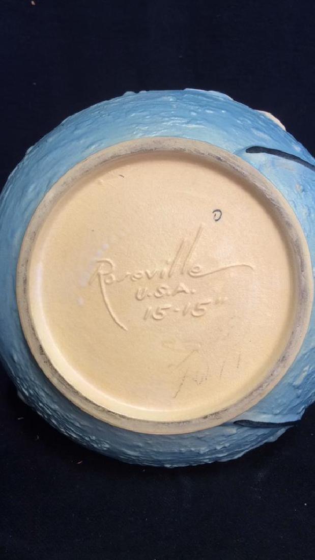 Roseville USA Blue Flowered Ewer Pitcher - 10