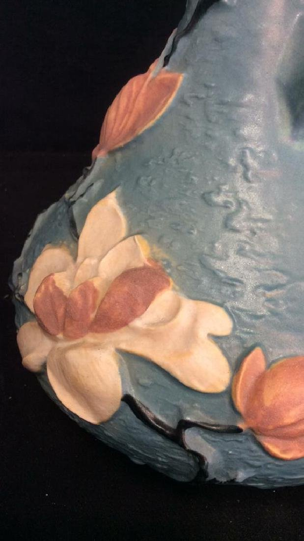 Roseville USA Blue Flowered Ewer Pitcher - 9