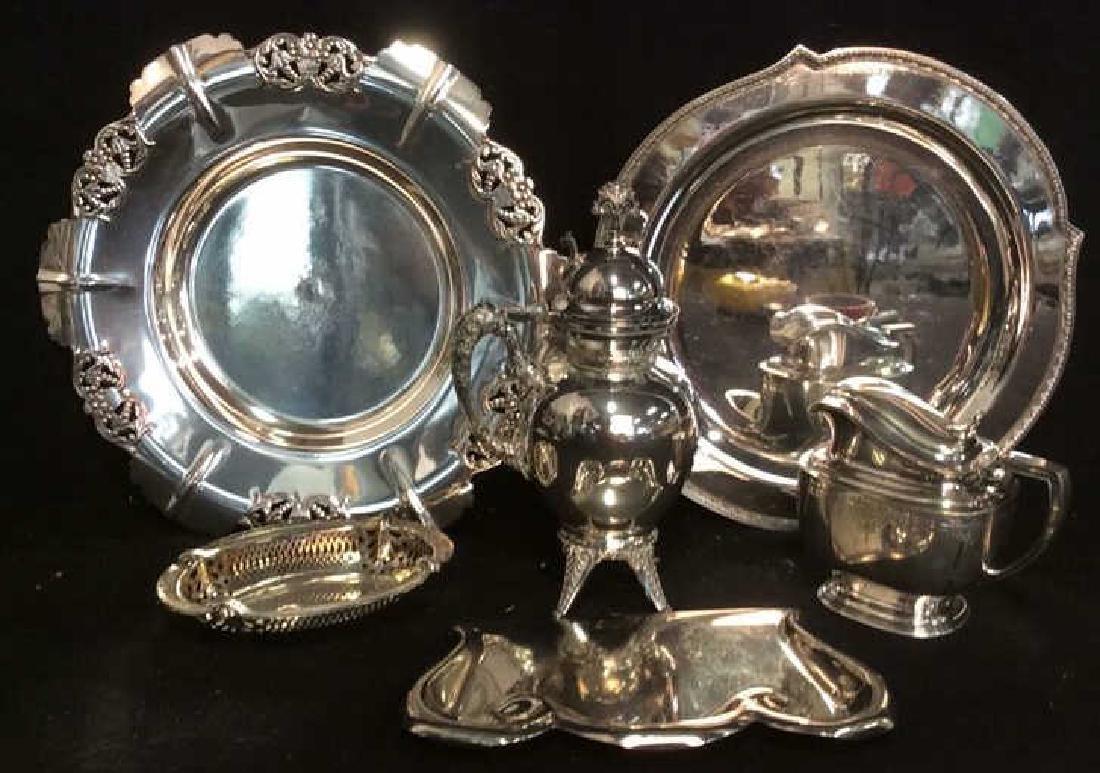 6 Ornate Vintage/ Antique Silver Pl Table Top