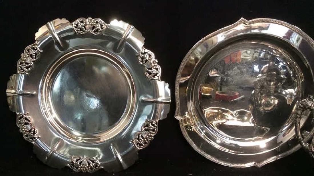 6 Ornate Vintage/ Antique Silver Pl Table Top - 2