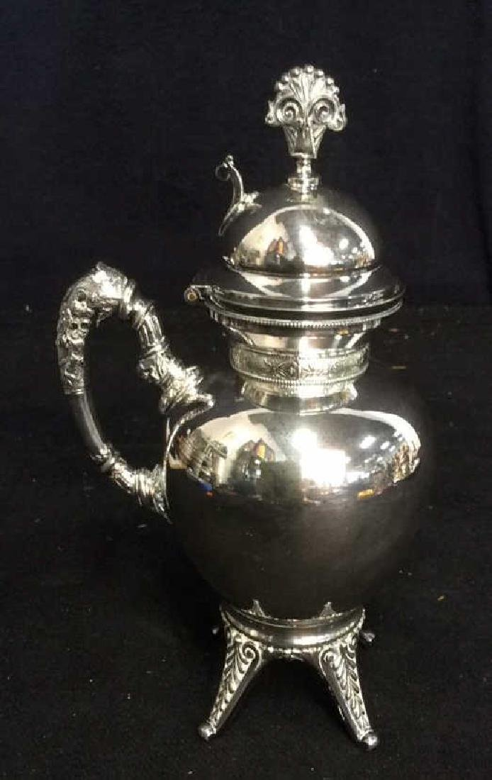 6 Ornate Vintage/ Antique Silver Pl Table Top - 8