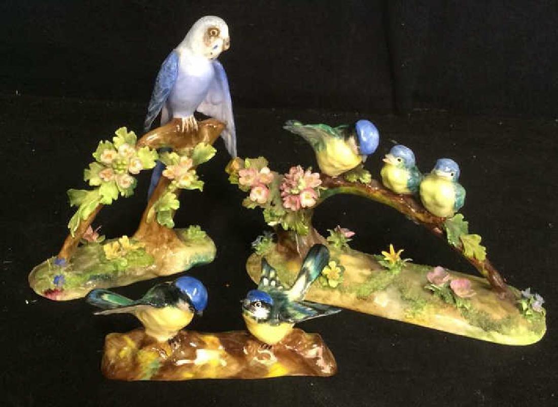 3 Porcelain Bird Figurals , Staffordshire - 2