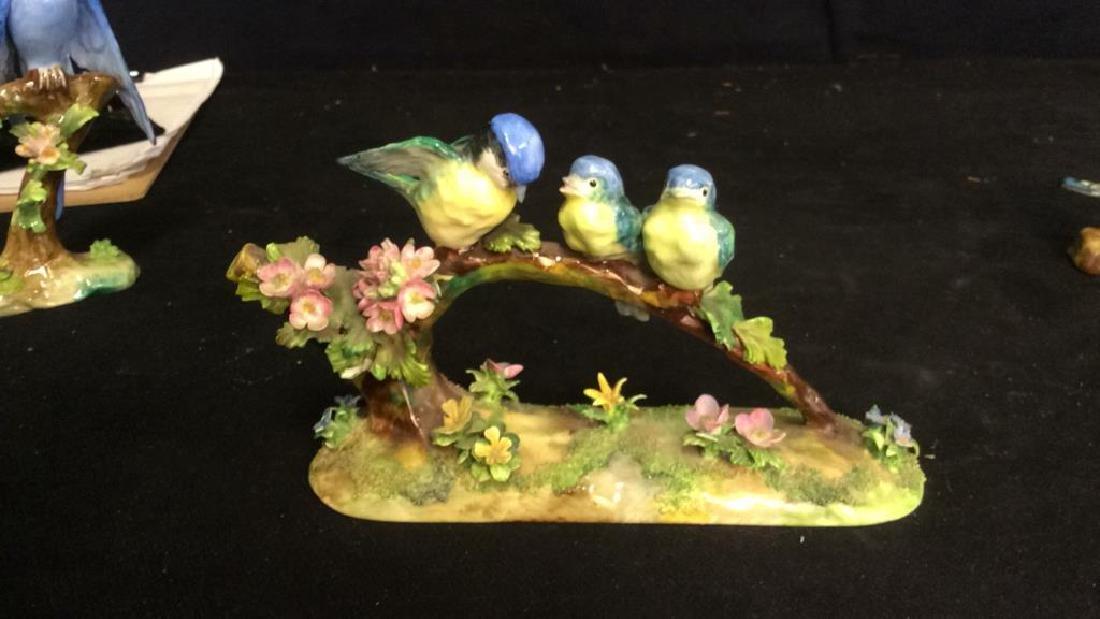 3 Porcelain Bird Figurals , Staffordshire - 5