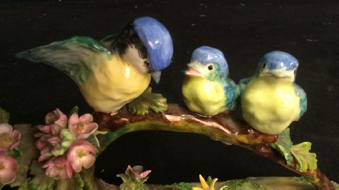 3 Porcelain Bird Figurals , Staffordshire - 6