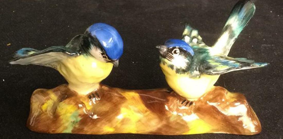 3 Porcelain Bird Figurals , Staffordshire - 8