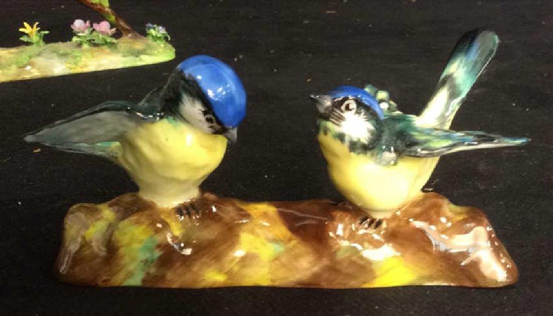 3 Porcelain Bird Figurals , Staffordshire - 9