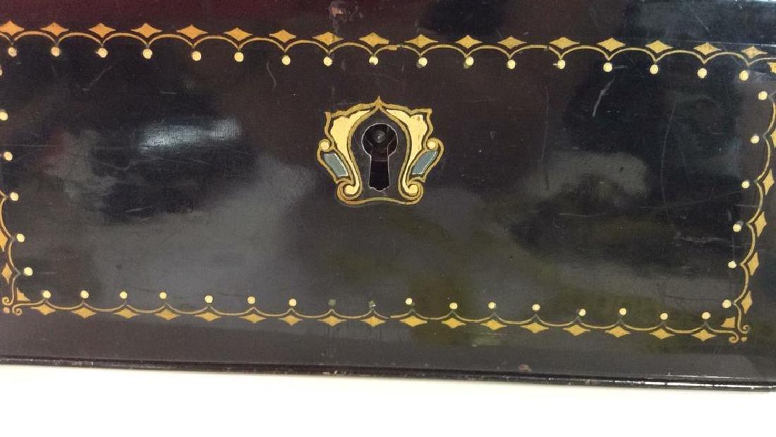 German Black Toned Painted Metal Card Box - 3