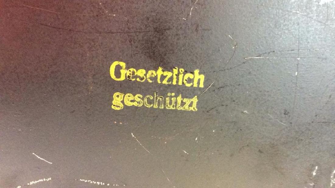 German Black Toned Painted Metal Card Box - 8