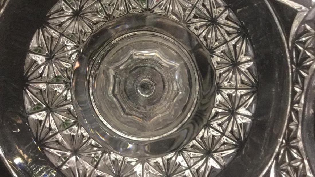 Pedestal Cut Crystal Tooth Edged  Centerpiece - 10