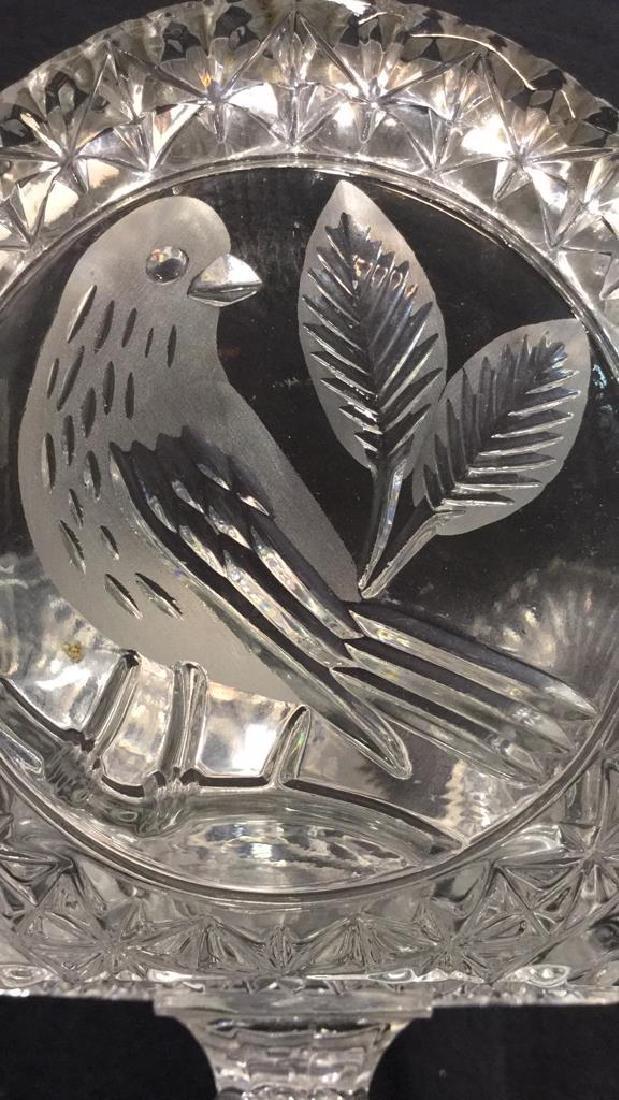 Pedestal Cut Crystal Tooth Edged  Centerpiece - 4