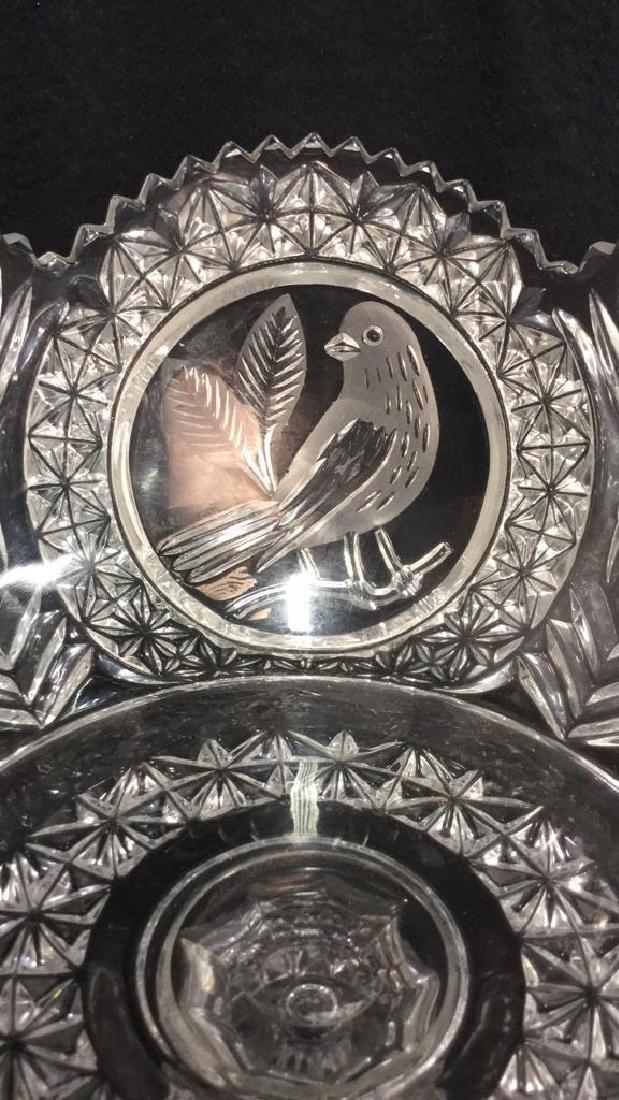 Pedestal Cut Crystal Tooth Edged  Centerpiece - 6