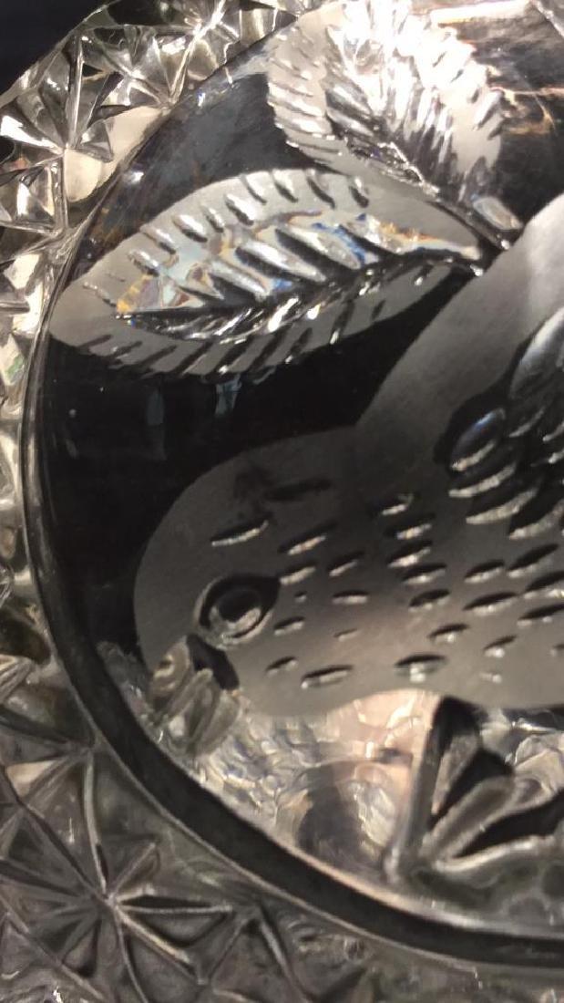 Pedestal Cut Crystal Tooth Edged  Centerpiece - 9