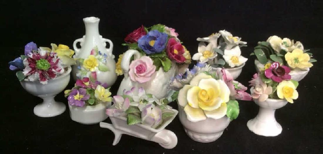 Lot 9 Capodimonte Italian Porcelain Florals