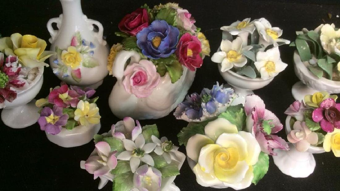 Lot 9 Capodimonte Italian Porcelain Florals - 3