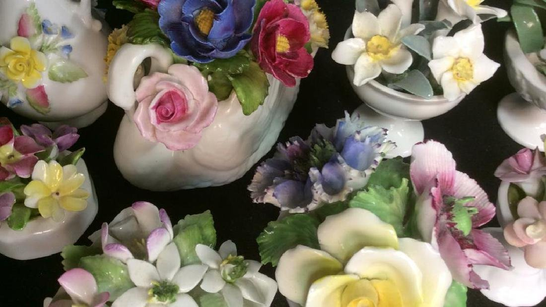 Lot 9 Capodimonte Italian Porcelain Florals - 4