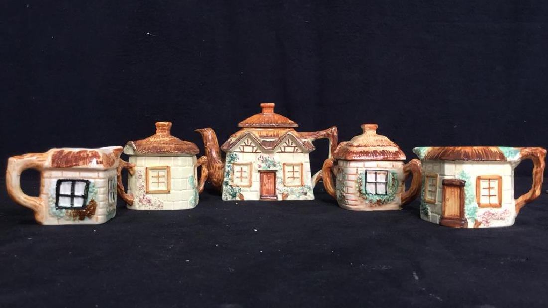 Lot 5 Cottage Handpainted Porcelain Tea Set