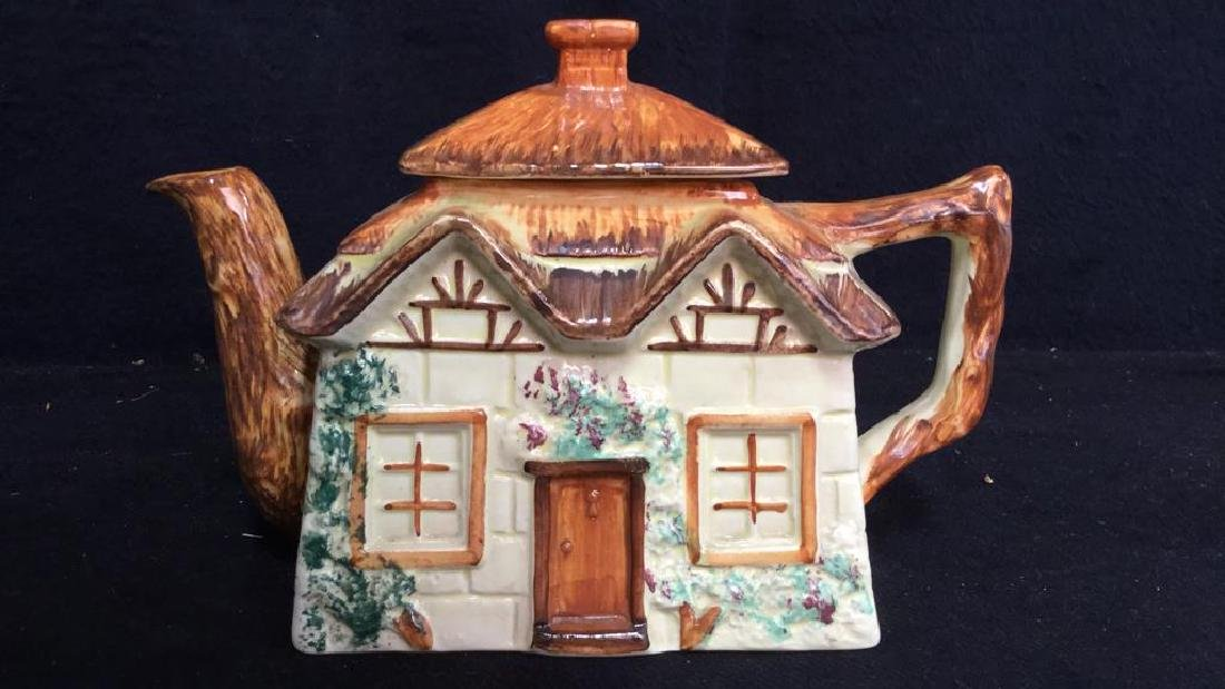 Lot 5 Cottage Handpainted Porcelain Tea Set - 9