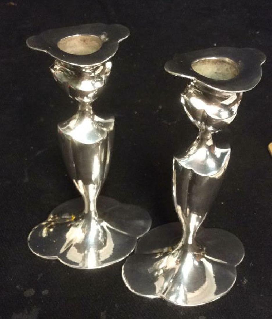 EGGP Co Meriden, Conn Pr Silver Pl Candlesticks - 2