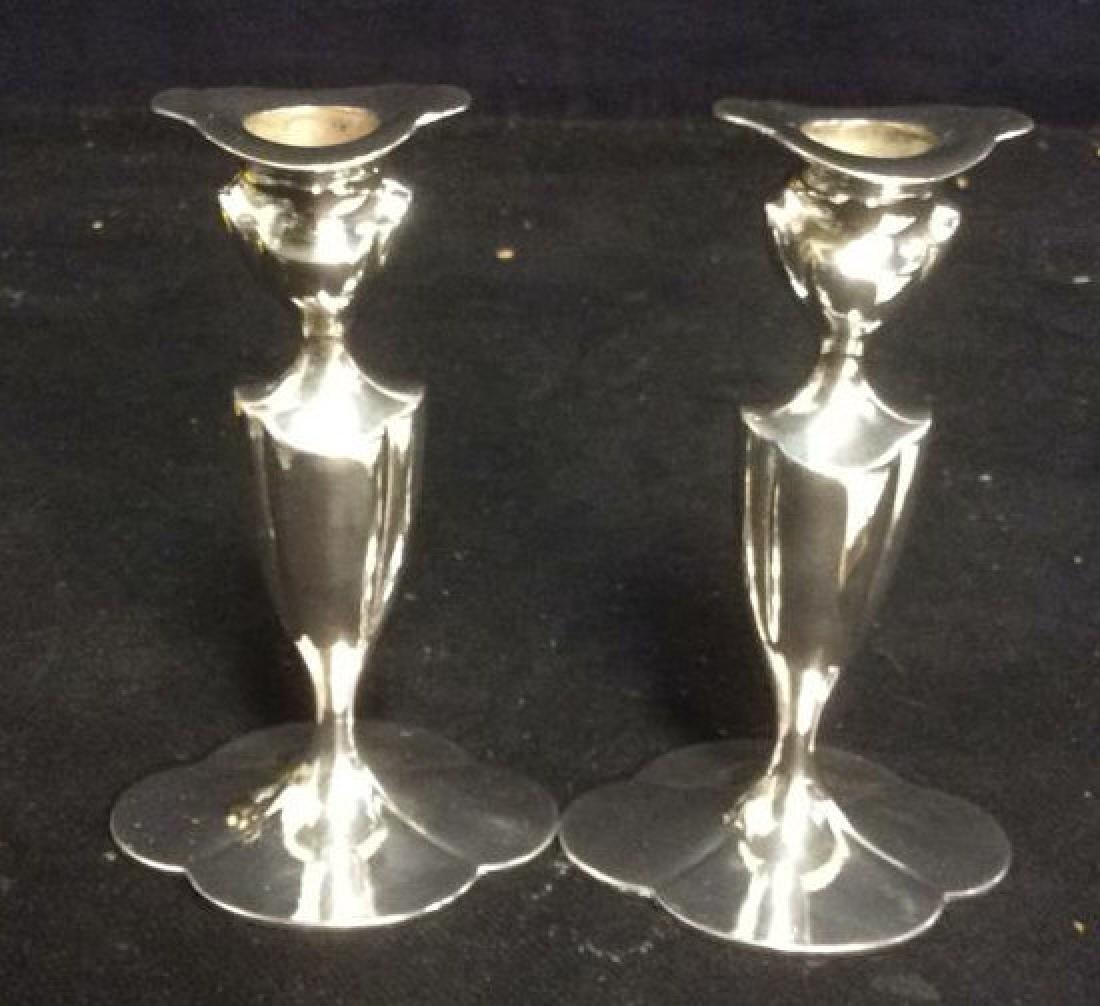 EGGP Co Meriden, Conn Pr Silver Pl Candlesticks - 3