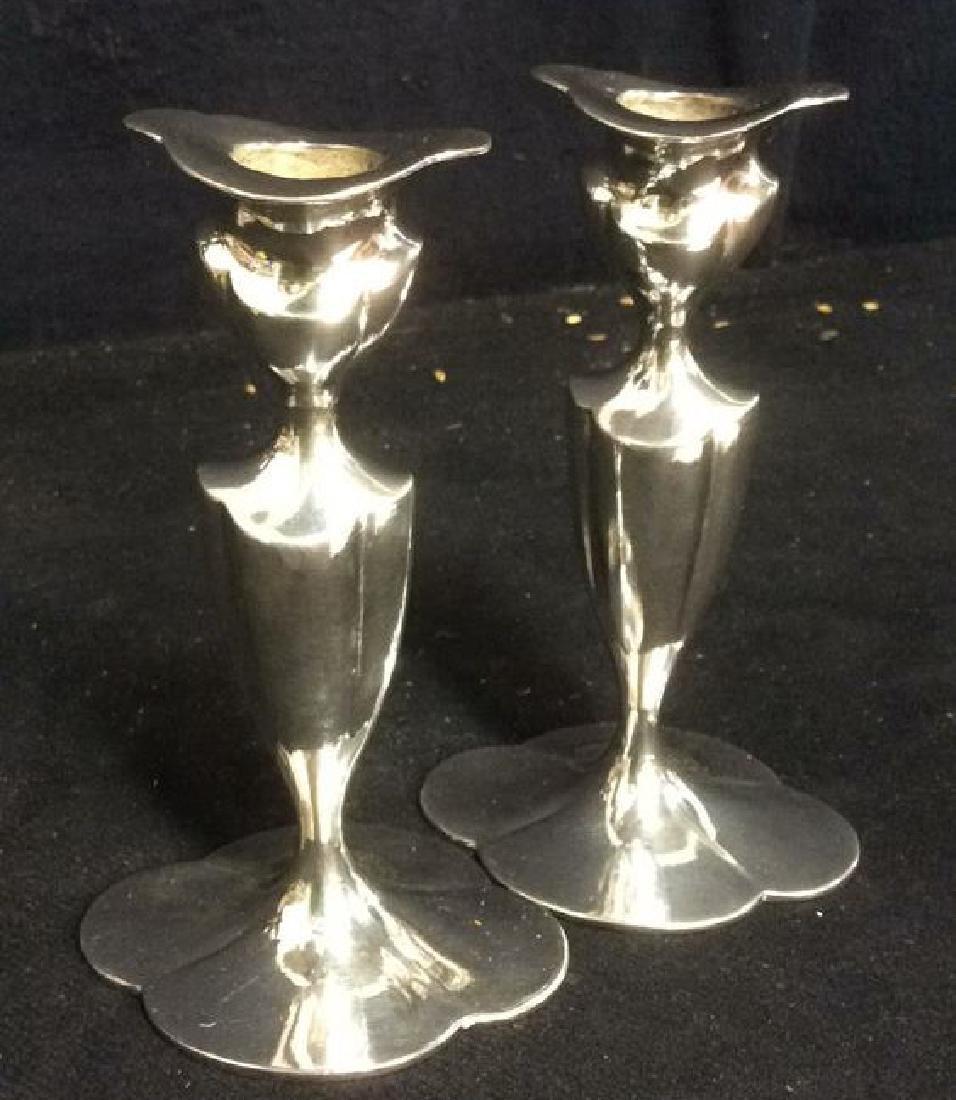EGGP Co Meriden, Conn Pr Silver Pl Candlesticks - 4