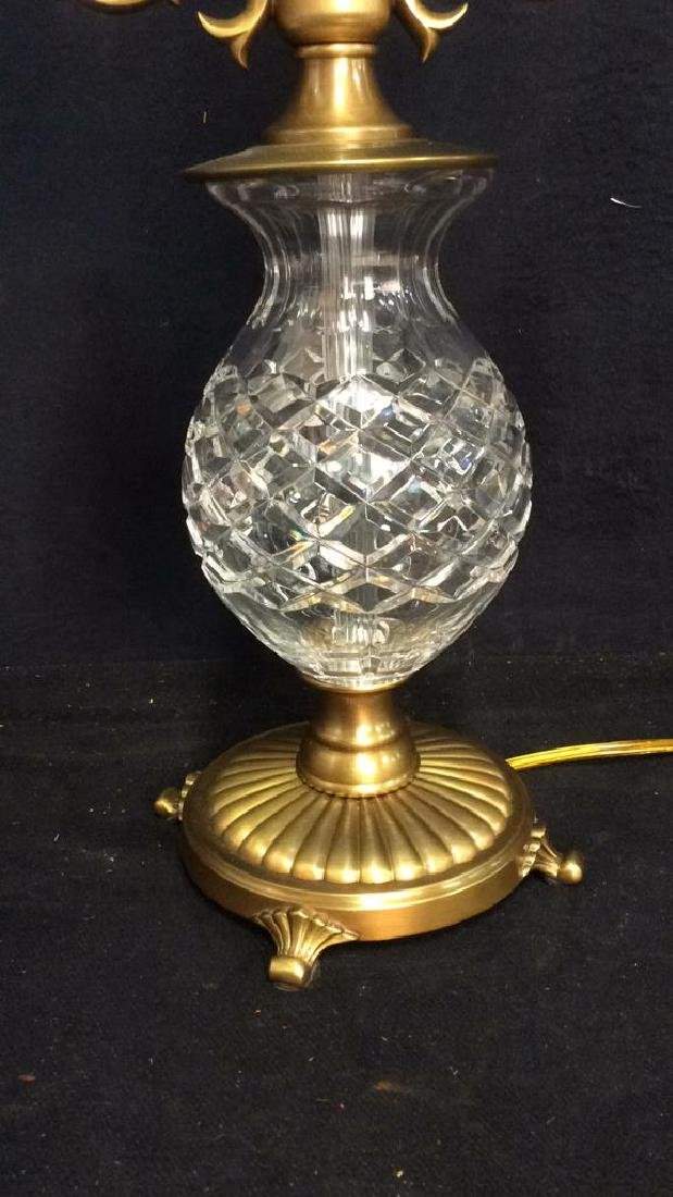 Crystal and Brass Vintage  Lamp - 3