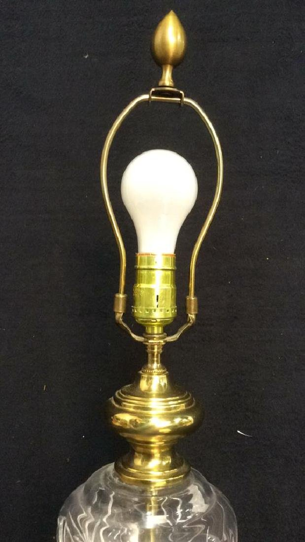 Crystal and Polished Brass Lamp - 7